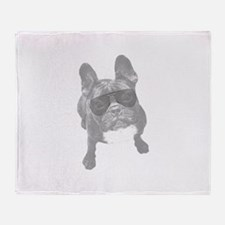 Cool French bull dogs Throw Blanket