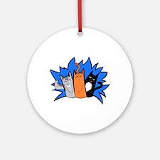 Everyone's Favourite Trio Round Ornament