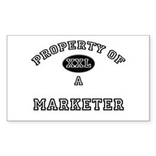 Property of a Marketer Rectangle Decal