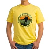 Appalachian trail Mens Yellow T-shirts