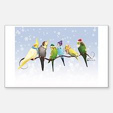 Winter Parakeets & Cockatiels Decal