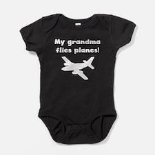 My Grandma Flies Planes Baby Bodysuit