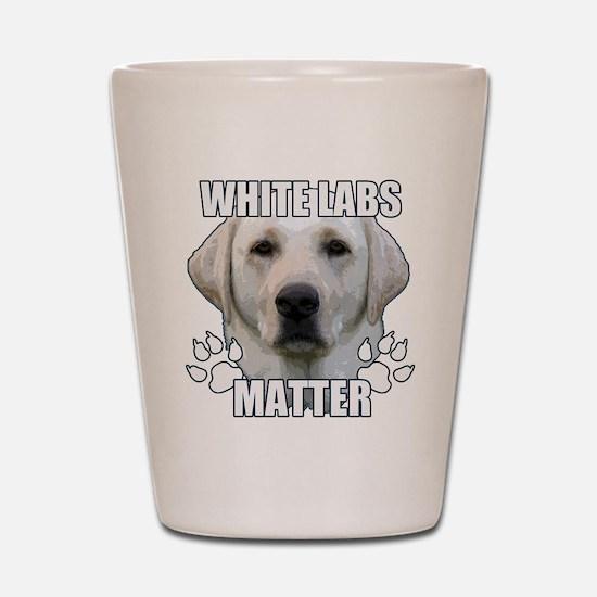 White labs matter Shot Glass