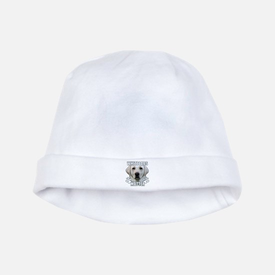 White labs matter baby hat