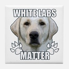 White labs matter Tile Coaster