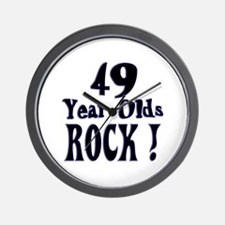 49 Year Olds Rock ! Wall Clock