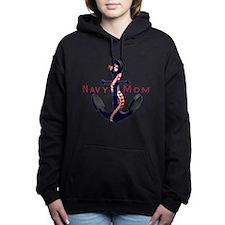 Unique Navy Women's Hooded Sweatshirt