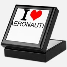 I Love Aeronautics Keepsake Box