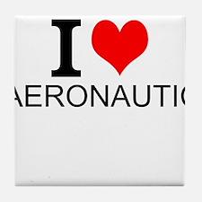 I Love Aeronautics Tile Coaster