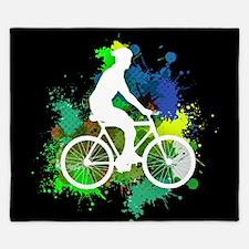 Cyclist on Multicolor Paint Splatters Black V2 Kin