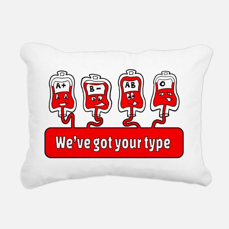 Cute Blood bank Rectangular Canvas Pillow