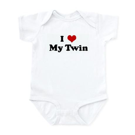 I Love My Twin Infant Bodysuit