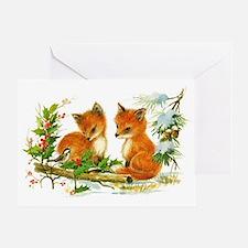 Unique Fox christmas Greeting Card