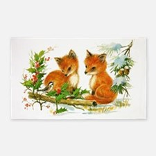 Cute Foxes Area Rug