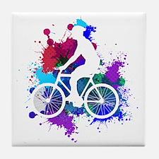 Unique Cycling male Tile Coaster