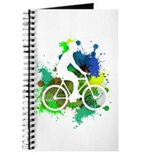 Cyclist of Multicolored Paint Splatters V2 Journal