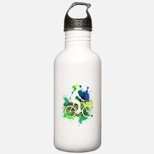 Cyclist of Multicolore Water Bottle