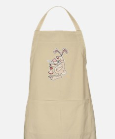 Funny Bunny Eating Apple BBQ Apron