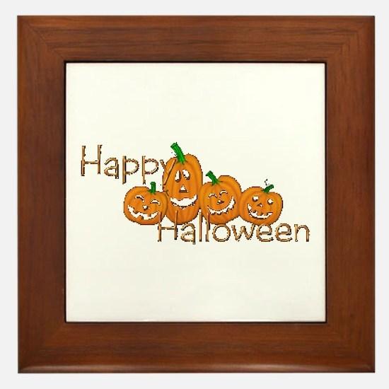 Happy Halloween 2 Framed Tile