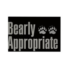 Funny Bear gay Rectangle Magnet