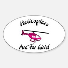 Heli for Girls Oval Decal