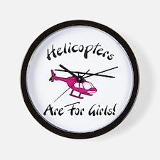 Heli for Girls Wall Clock