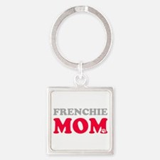 Cool French bull dogs Square Keychain