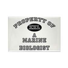 Property of a Marine Biologist Rectangle Magnet