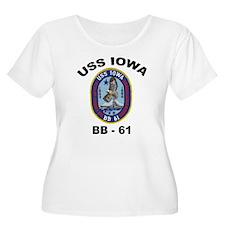 USS Iowa BB 61 Women's Plus Size Scoop Neck Tee