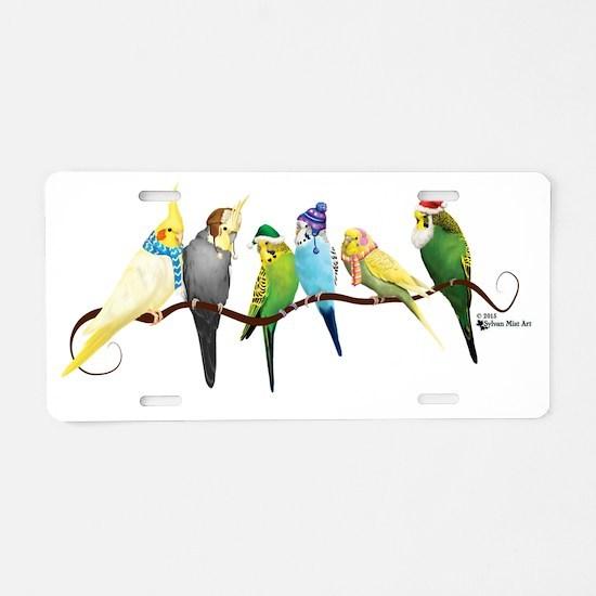 Funny Parrots Aluminum License Plate