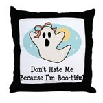 Halloween Bootiful Ghost Throw Pillow