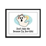 Halloween Bootiful Ghost Framed Panel Print