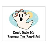 Halloween Bootiful Ghost Small Poster