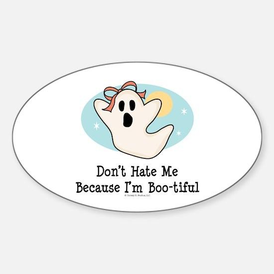 Halloween Bootiful Ghost Oval Decal