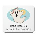 Halloween Bootiful Ghost Mousepad