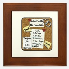 Rules for an Air Force wife Framed Tile