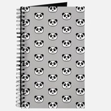 Panda Face Pattern Journal