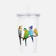 Cute Parrot Acrylic Double-wall Tumbler