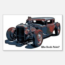 Rat Rod1 Rectangle Decal