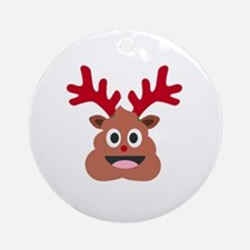 Funny Ugly Round Ornament