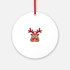 Unique Deer christmas Round Ornament