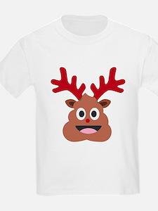 xmas reindeer poop emoji T-Shirt