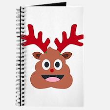 xmas reindeer poop emoji Journal