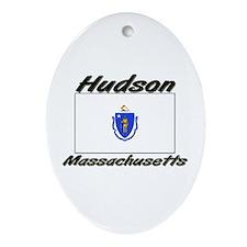 Hudson Massachusetts Oval Ornament