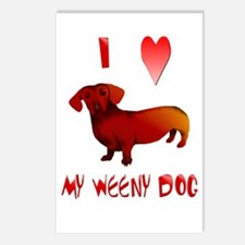 I Love My Weeny Dog Postcards (Package of 8)