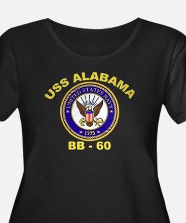USS Alabama Women's Plus Size Scoop Neck Dark Tee