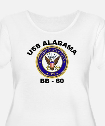 USS Alabama BB 60 Women's Plus Size Scoop Neck Tee