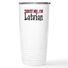 Funny Flag of latvia Travel Mug