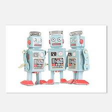 Vintage Robots Postcards (Package of 8)