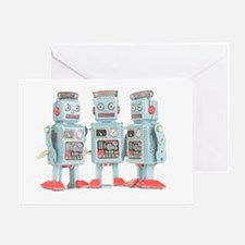 Vintage Robots Greeting Card
